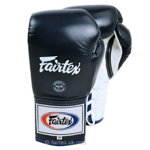Fairtex Lace-Up Competition Gloves - Blue